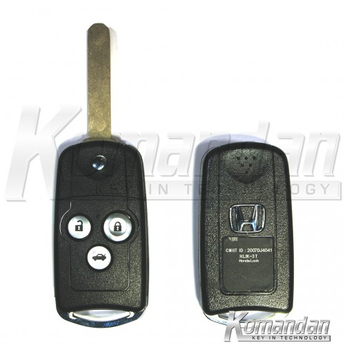 HONFRK02 - Flip Remote Key for Honda Accord Year 2010 until 2013 /Honda Civic, Year 2012 until 2014, 3 Button