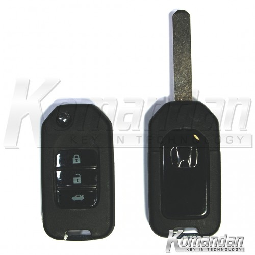HONFKS04 - Flip Key Shell - Honda, New Look, 3 Button